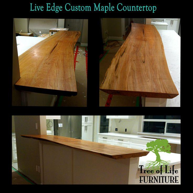 Live Edge Maple Countertop!!
