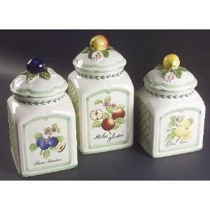 Villeroy U0026 Boch French Garden Fleurence 3 Piece Canister Set (Box Set),
