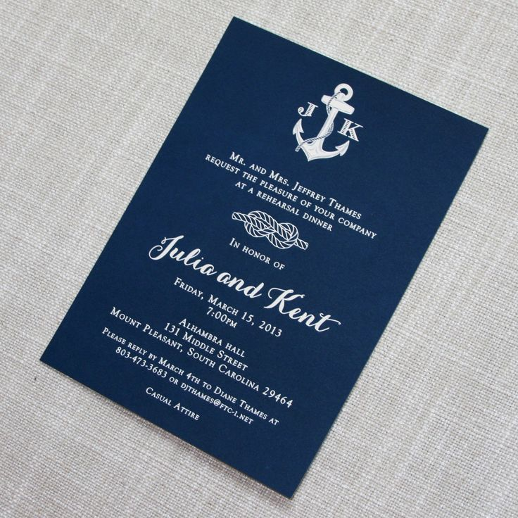Navy Nautical Rehearsal Dinner Invitation 61 best