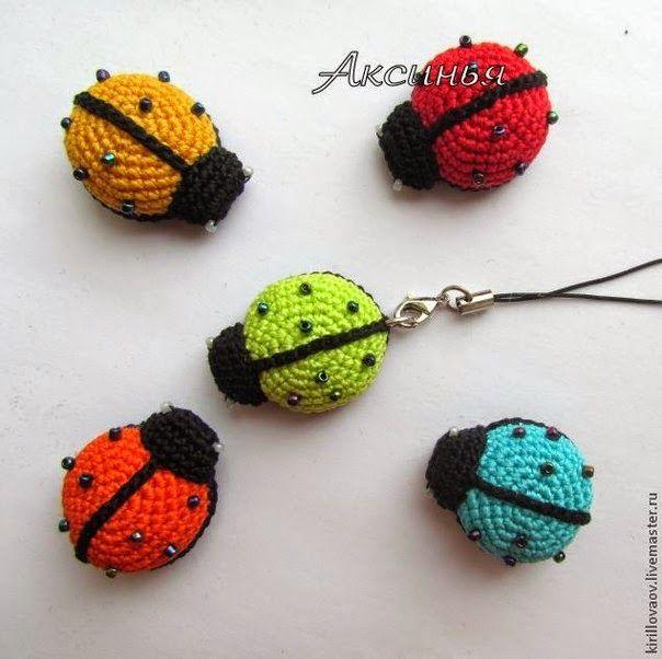 crochelinhasagulhas: Chaveiro de joaninha em crochê