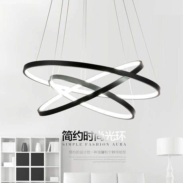 Modern Led Pendant Lights Circle Suspension Luminaire Dining Room Lamp 3 Ring Hang Light Kitchen Lighting Restaurants Room Lamps Suspension Luminaire Luminaire Luminaire Moderne