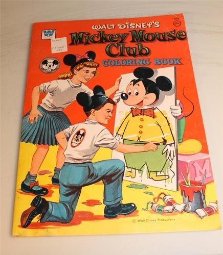 Vtg Copyright 1957 Whitman Coloring Book Walt Disneys Mickey Mouse Club