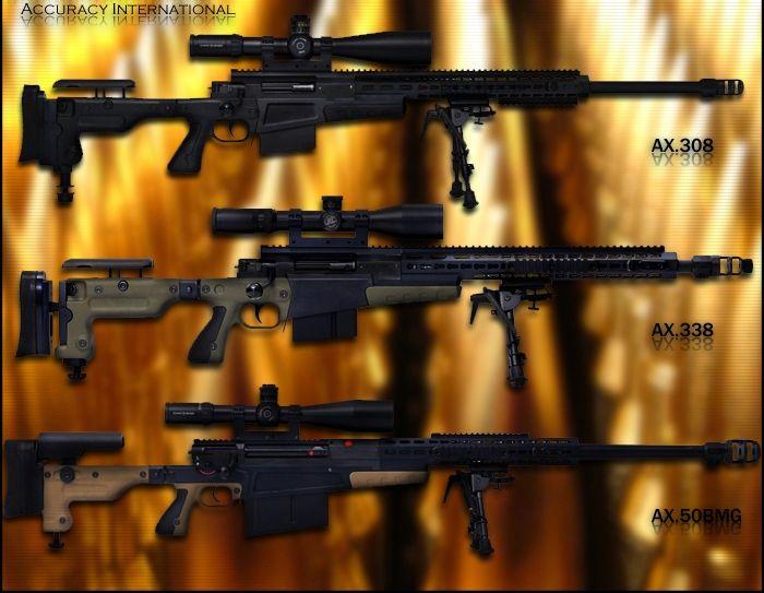 Снайперские винтовки Accuracy International AX .308   AX .338   AX .50