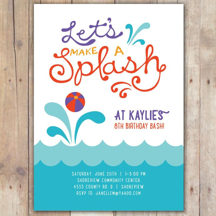 474 best birthday invitations template images – Pool Party Invitation Templates Free Printable