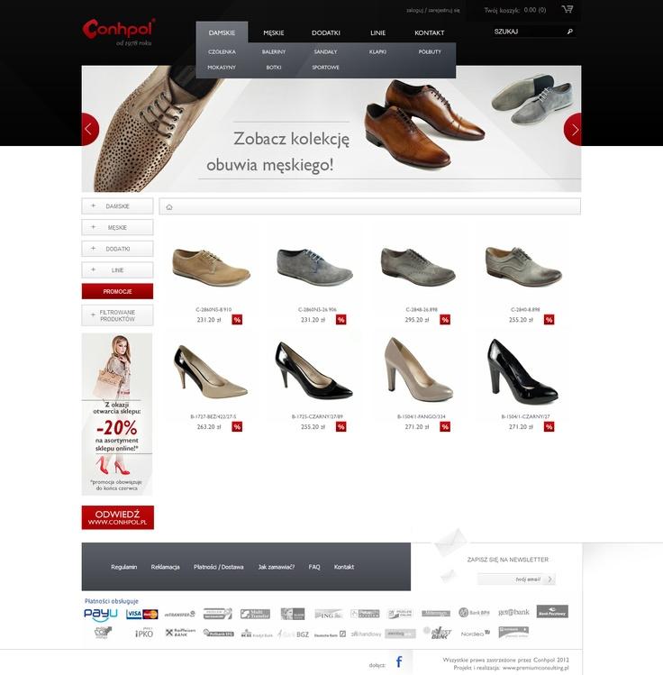 E-commerce for shoes producer. Visit online www.sklep.conhpol.pl