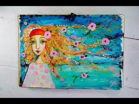Art Journaling Workshop Marieke Blokland Effy Wild Radiant II - YouTube