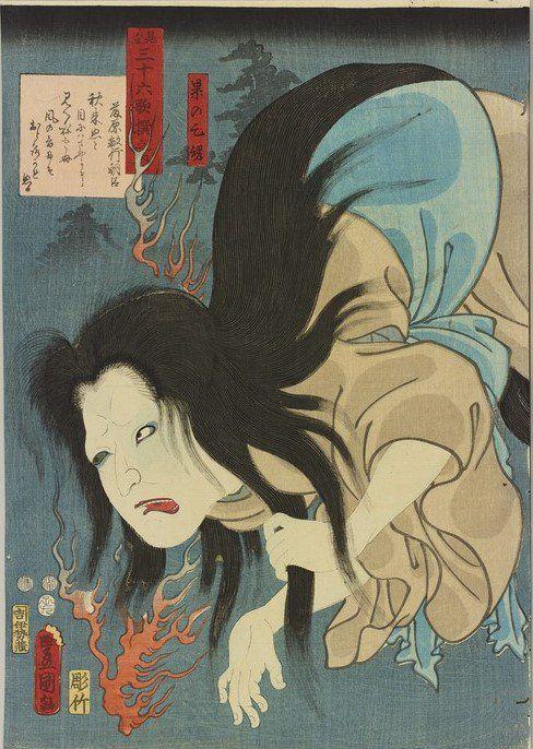 太田記念美術館(@ukiyoeota)さん | 歌舞伎で人気があった、累(かさね)の幽霊の話