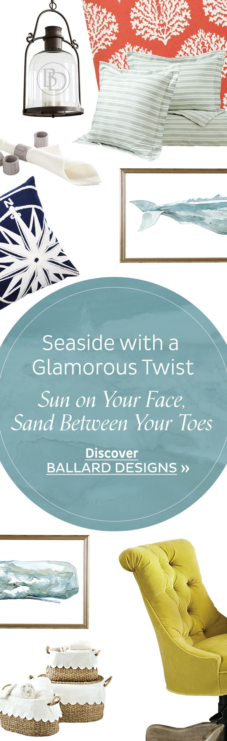 402 best beach décor images on Pinterest | Ballard designs, Beach ...