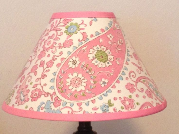 Pink Brooklyn Girl's Lamp Shade M2M Pottery Barn Kids Bedding #Handmade
