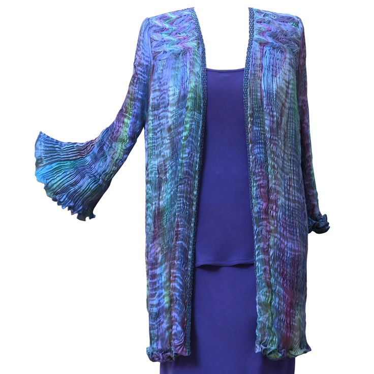 Venice Pleated Jacket by Charles and Patricia Lester // Blue Moon Collection