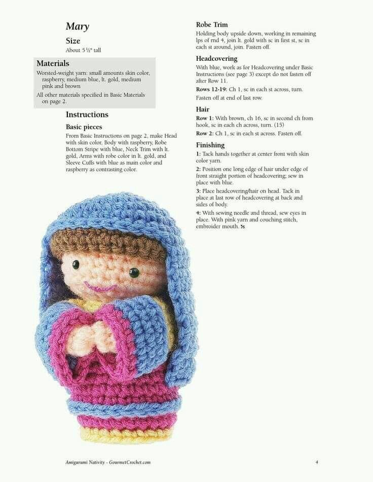 Vistoso Patrón De Crochet Libre Natividad Componente - Ideas de ...