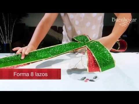Moños navideños flores de caramelo escarchadas en cintas - YouTube