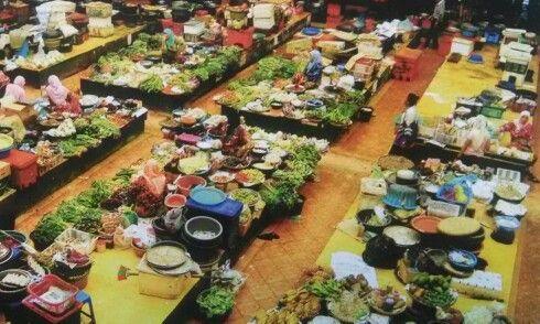 Wet market in Kota Bharu, Kelantan, Malaysia