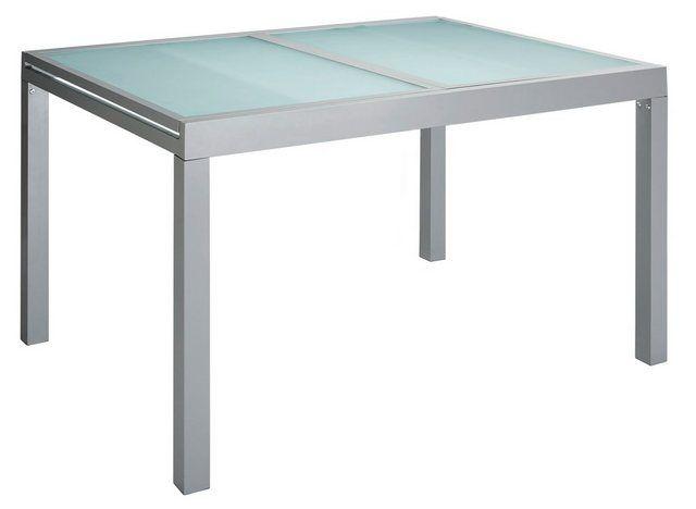 Gartentisch Lima Aluminium Ausziehbar Silber Gartentisch