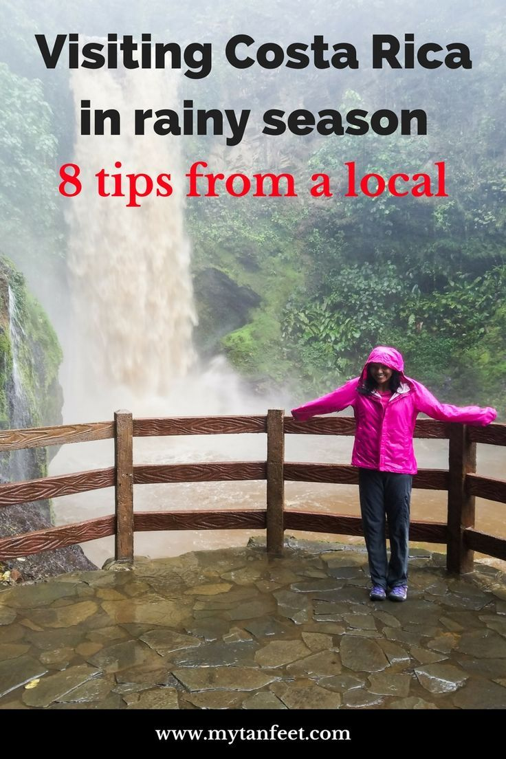 8 tips for visiting Costa Rica in the rainy season from a local. Click through to read the guide: https://mytanfeet.com/costa-rica-travel-tips/tips-traveling-costa-rica-rainy-season/