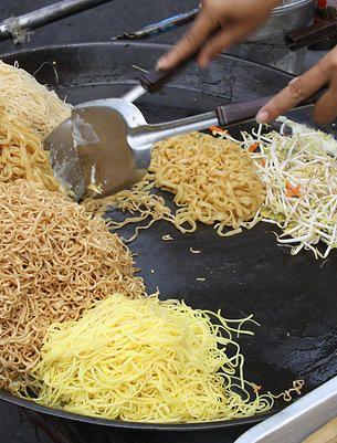 The Eat Street Markets at Portside... mmmm noodles