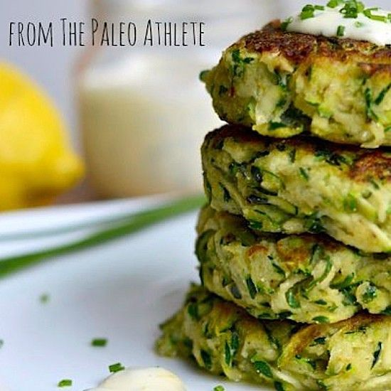 ZUCCHINI FRITTERS Source: stupideasypaleo.com 5 cups shredded zucchini 1 egg 1/4 C coconut flour 1/4 tsp cayenne pepper 2 tsp pepper 1 tsp salt  coconut oil Place Shredded zucchini in a large bowl. Sprinkle w salt and toss well. Let Sit 5 minutes. Scoop up a generous handful of the zucchini and squeeze the liquid out. You want them dry. Place in a different bowl. Add the coconut flour egg and pepper and mix all together. Heat a large skillet over medium-low heat. Melt coconut oil in the pan…