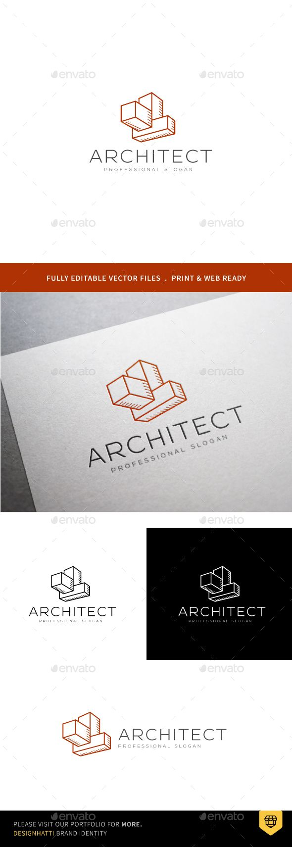 Architect Logo #photoshop #psd #builder #symbol • Available here → https://graphicriver.net/item/architect-logo/18403511?ref=pxcr