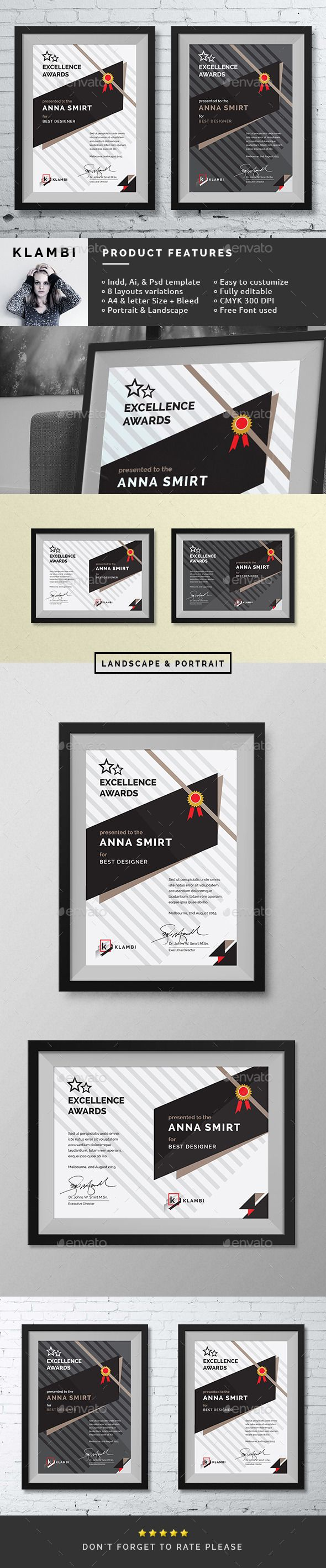 Fashion Awards Certificates Template PSD, InDesign INDD, AI Illustrator. Download here: http://graphicriver.net/item/fashion-awards-certificates/11276199?ref=ksioks