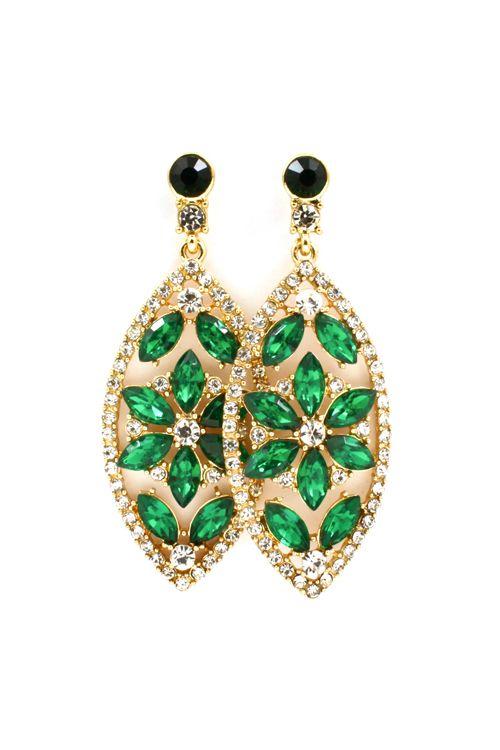 Pretty Emerald Crystal Marquise Earrings #tiffany tiffany necklace replica uk