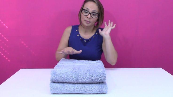 Como dobrar e guardar toalhas de banho e rosto (e dica pra escolher tamb...
