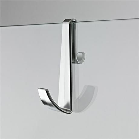 Ultra-modern and finished in stunning chrome this Premier robe hook for framless shower enclosures is a neat and practical way to keep your bathroom tidy at all times!