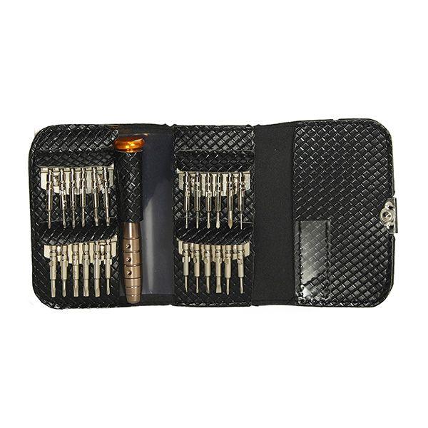 25 en 1 Precisión Torx Destornillador Reparación herramienta Juego para reloj celular