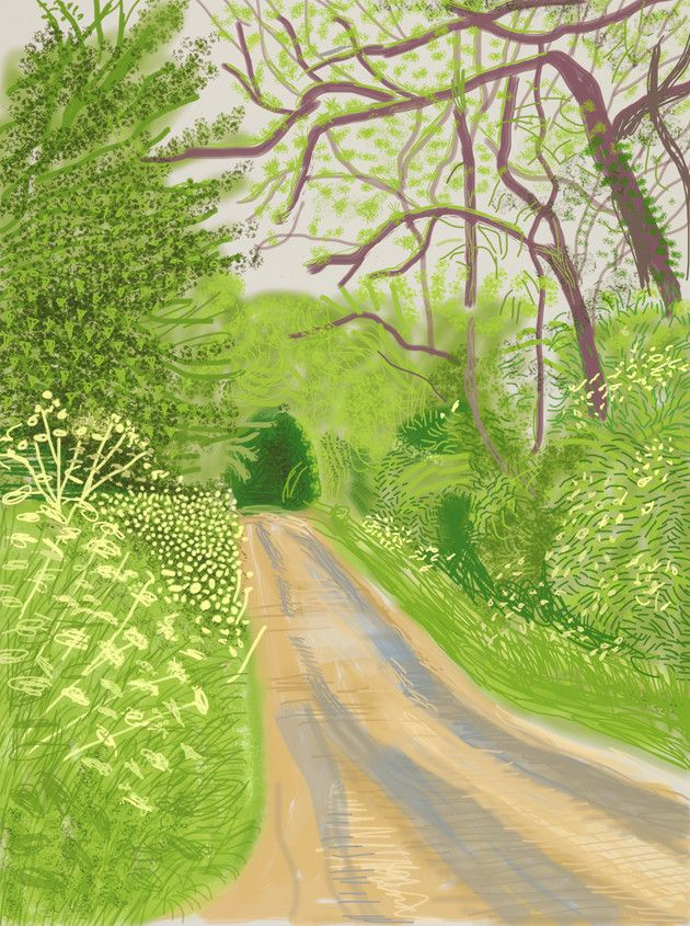 The Arrival of Spring in Woldgate, East Yorkshire in 2011 - 16 May, 2011, by David Hockney