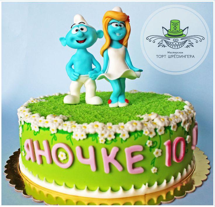 и опять смурфики #тортшрёдингера #торт #cake