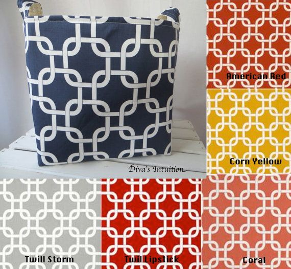 Delightful Fabric Storage Bin 11 X 11 X 11   Premier Print Gotcha On Etsy, $44.00