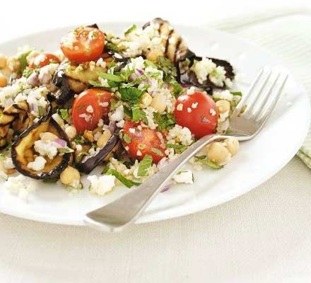 This healthy, high fibre dish proves that feta and grilled vegetables are a perfect match