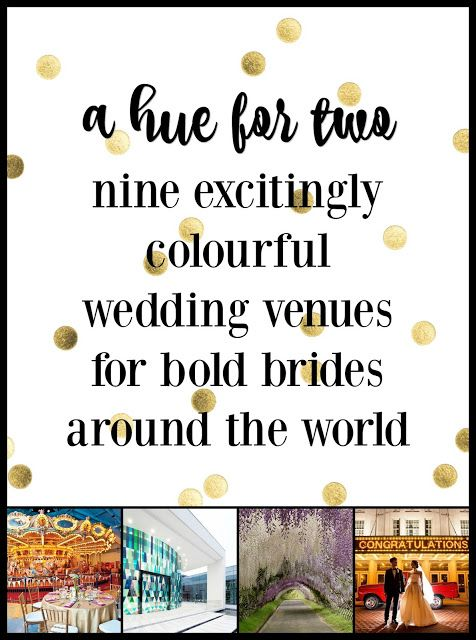 9 excitingly colourful wedding venues for bold brides around the world - Wedding Colors - Wedding Planning - A Hue For Two | www.ahuefortwo.com