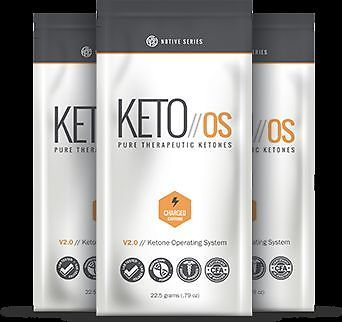 Pruvit KETO OS (caffeinated) 4 Pack of KETO//OS Ketone Supplement