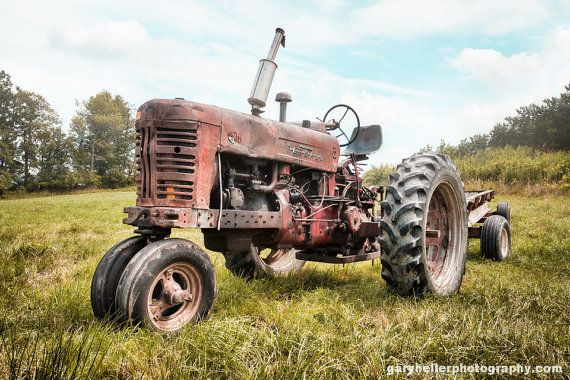 Old Farmall Tractor Dreams Rusty Old by garyhellerphotograph ... looks like one of the tractors on the farm where I grew up