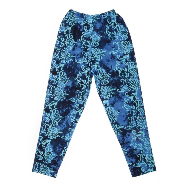 Batik1 Traditional floral tye dye pattern trousers Hand stamped Available in sizes XS,S,M,L £39.00+p&p www.batikbali.com