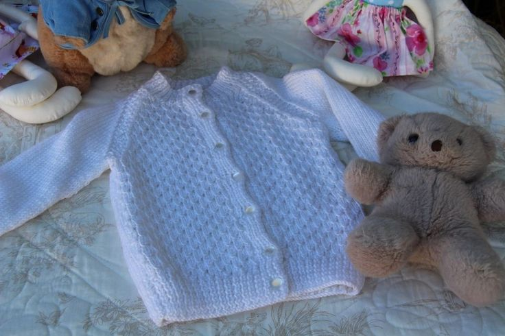 Vintage Style Girl s Cardigan Toddler white hand knitted 2-3yrs baby clothes for sale on Ebay