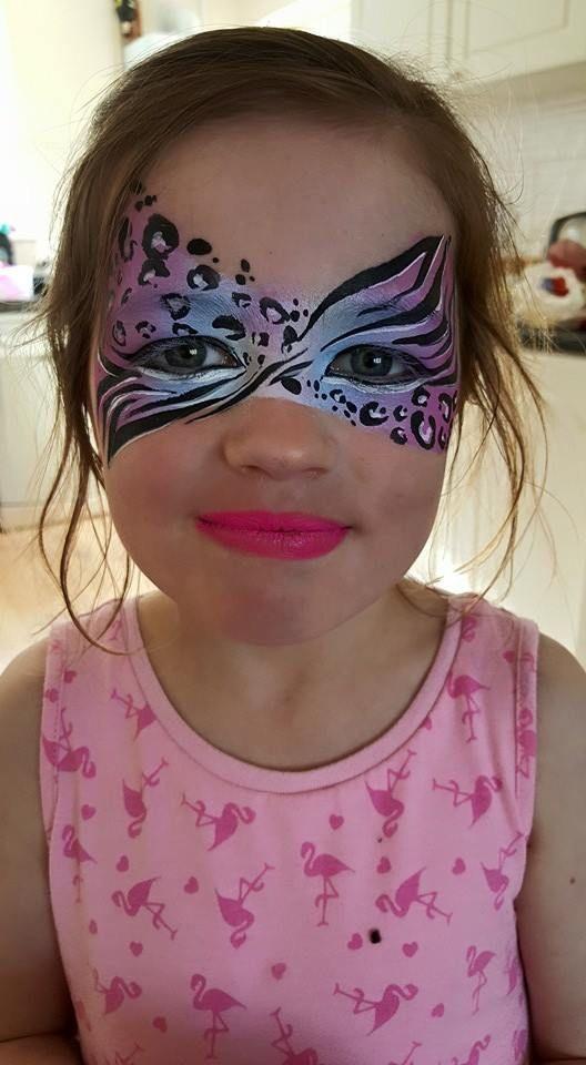 Cool Cheetah / Zebra Face Paint Design