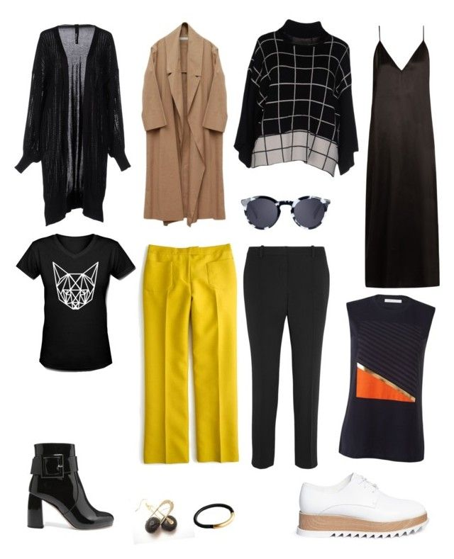 """graphic minimalism"" by susan-v on Polyvore featuring Raey, Urban Gilt, J.Crew, Vanessa Bruno, Miu Miu, Pedder Red and Quattrocento"
