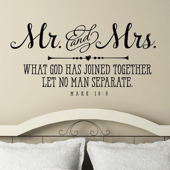 Mr And Mrs What God Has Joined Together Let No Man Separate