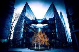 London, arkitektur, street, træer, Storbritannien, London, England, Storbritannien, folk, moderne, bygning, glas, efterår, by, England, 7 Mere London Riverside