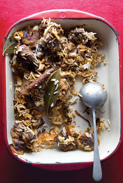 Sindhi Biryani (Spiced Goat and Rice Pilaf) Recipe - Saveur.com