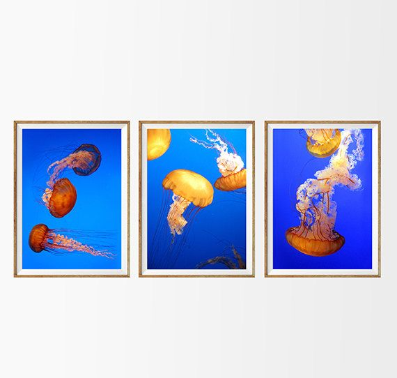 Art Print Wall Decor Wall Art Home Decor Set Of 9 Prints Beach House Decor  Underwater