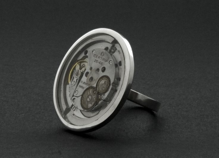 Around Time 1 (ring) 2008 Sterling Silver 25 gr, Transparent Plexiglas, owned by Gerd Strid, Sweden Original Collection
