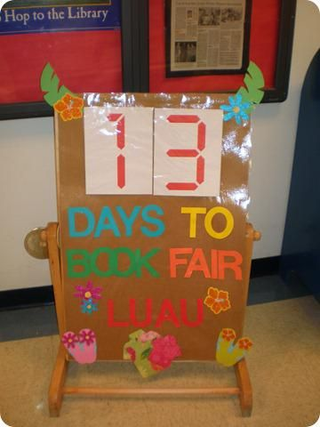 Luau Themed Library and Bulletin Board Idea