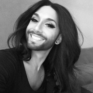 Conchita Wurst | 15 Drag Queens Who Are So Pretty It Hurts       Sorry Conchita, but the beard is not working! Great teeth and smile, and without the beard, you would look like a very pretty woman. Honest, I find some of the strangest sites online, is it just me? I do not even know how I found this page, lol.