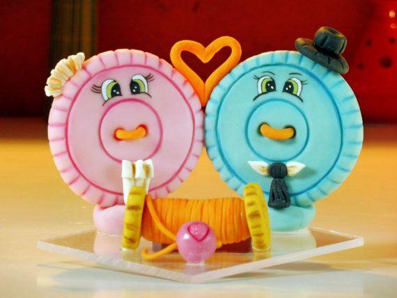 Bella coppia di sposi matrimonio torta topper di elagiftidea