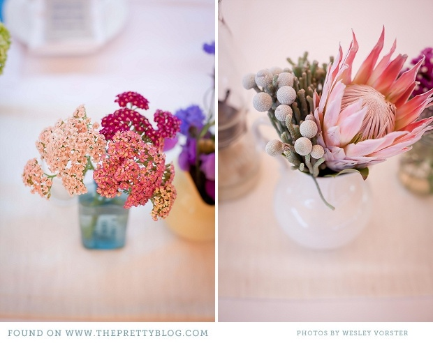 Pink inspired flower arrangements