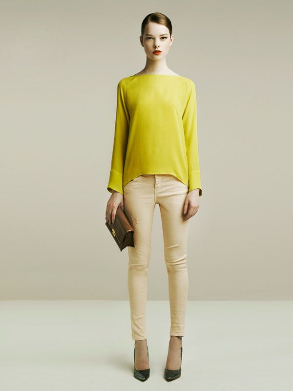 Zara April 2011 Lookbook.  Sweet and sexy in one.  Plus one of my favourite hues - Chartreuse?