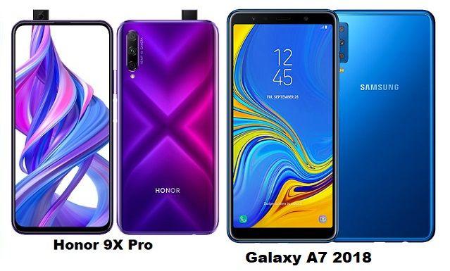 Samsung Galaxy A7 2018 Vs Huawei Honor 9x Pro Specs Comparison Galaxy Samsung Galaxy Samsung