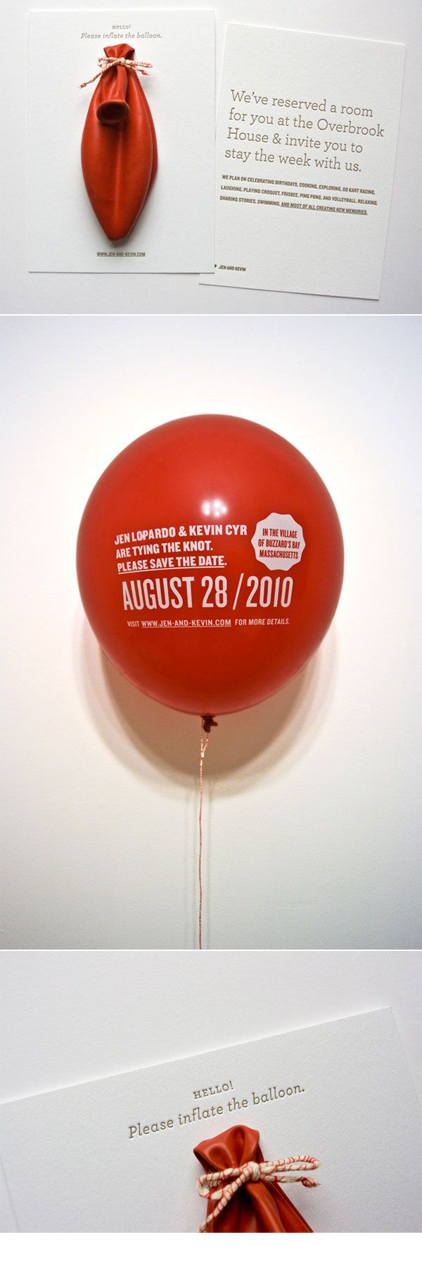 What a cute invitation idea, printed balloons, inflate for details.